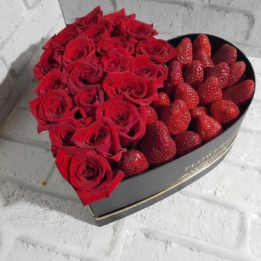 "Сердце ""Страсть"": букеты цветов на заказ Flowwow"