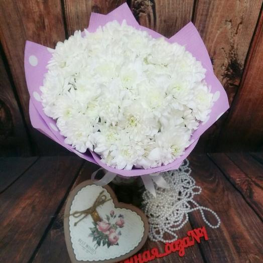 Нежный букет хризантем: букеты цветов на заказ Flowwow
