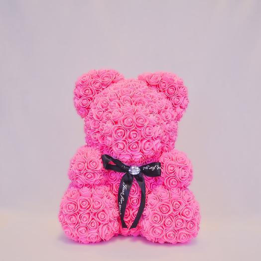 Мишка из роз RozaRose Розовый - 40 см