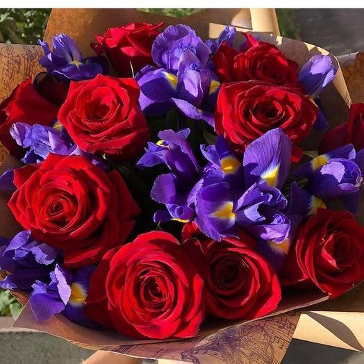 Огонь и лёд: букеты цветов на заказ Flowwow