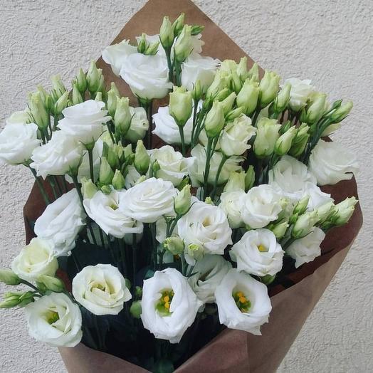 Букет из белой эустомы: букеты цветов на заказ Flowwow