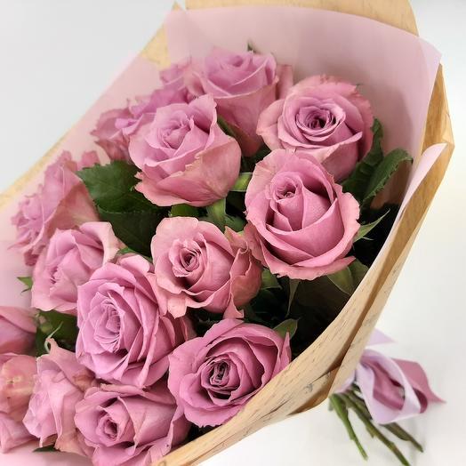 Черничный зефир: 19 роз