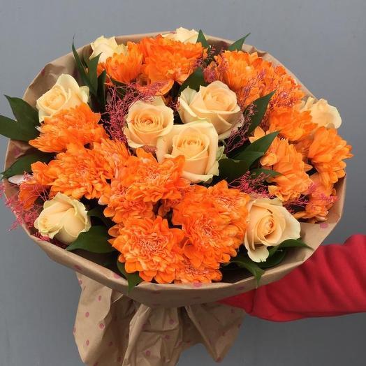 Оранжевое лето): букеты цветов на заказ Flowwow