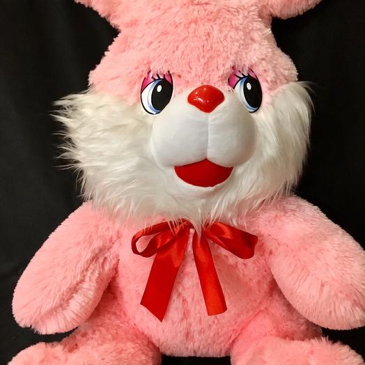 """Плюшевый заяц """"Валентин"""": букеты цветов на заказ Flowwow"""