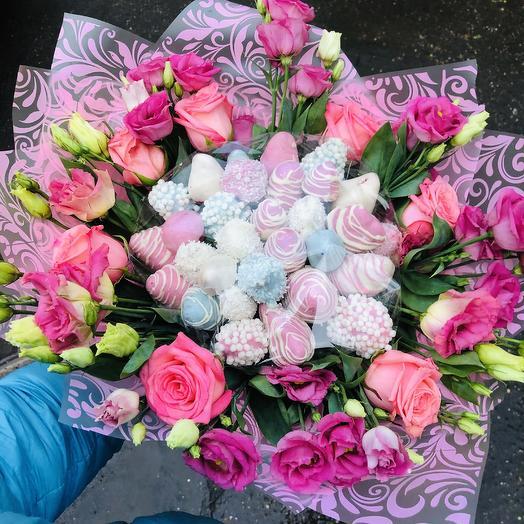 Клубничная феерия: букеты цветов на заказ Flowwow