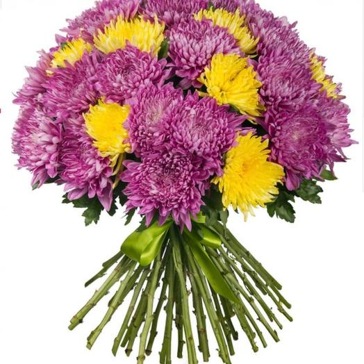 35 хризантем MIX: букеты цветов на заказ Flowwow