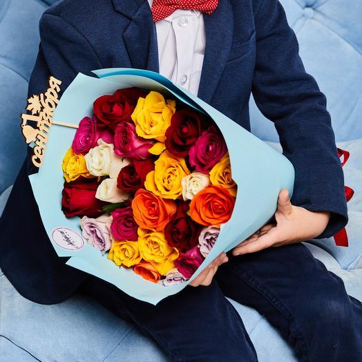 Букет «Первоклашка» - 25 Роз Микс: букеты цветов на заказ Flowwow