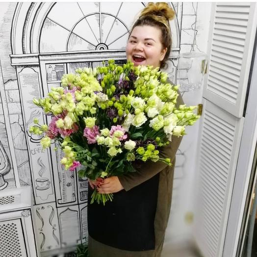 Микс сортовые лизиантусов: букеты цветов на заказ Flowwow