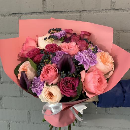 Букет из роз Джульетта: букеты цветов на заказ Flowwow
