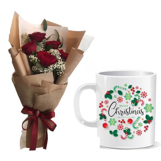 Flower   Christmas Mug