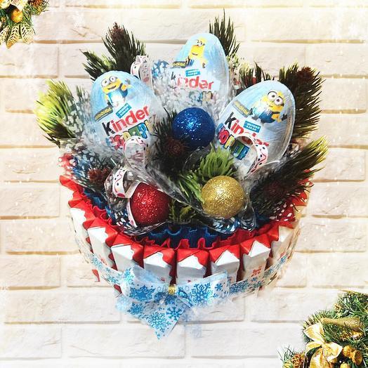 Новогодний тортик 2: букеты цветов на заказ Flowwow