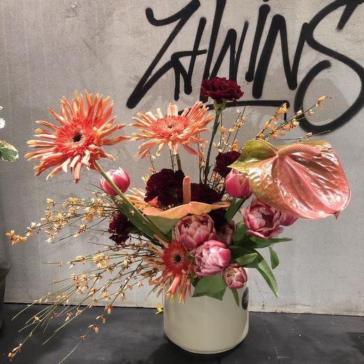 Коралловый букет: букеты цветов на заказ Flowwow