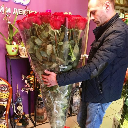 Букет роз 120 см: букеты цветов на заказ Flowwow