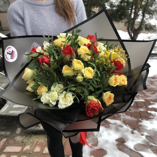 Весенний каприз: букеты цветов на заказ Flowwow