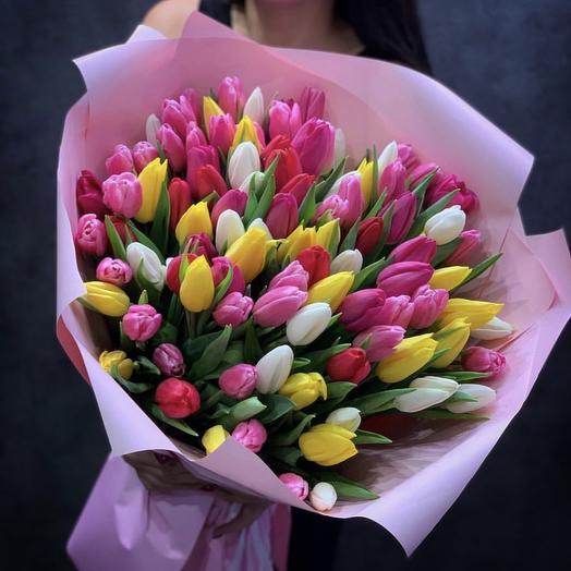 Роскошный микс тюльпанов