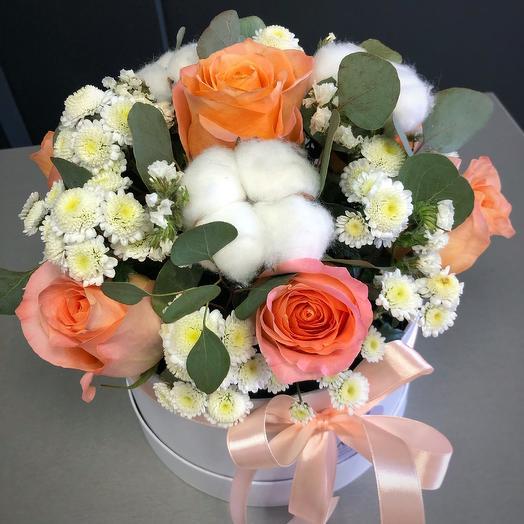 Хлопковая нежность: букеты цветов на заказ Flowwow
