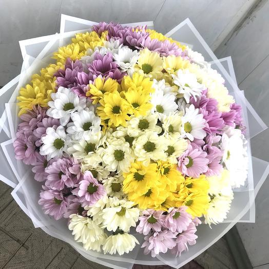 Охапка из 25 хризантем