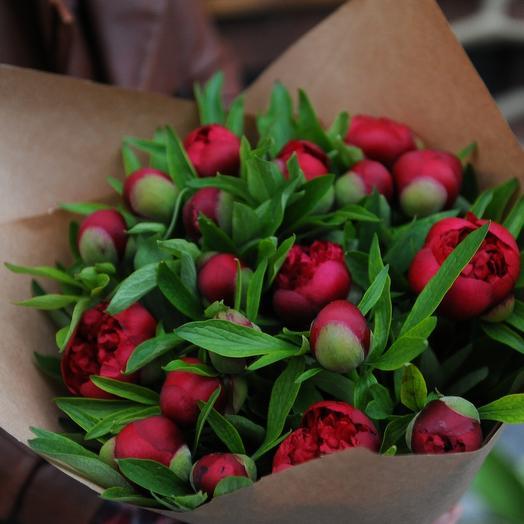 Букет сочных пионов: букеты цветов на заказ Flowwow