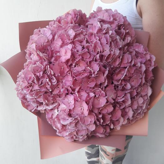 Букет Розое облако гортензий: букеты цветов на заказ Flowwow