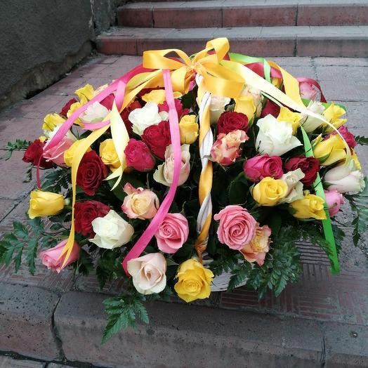 Корзина 101 Роза Кения