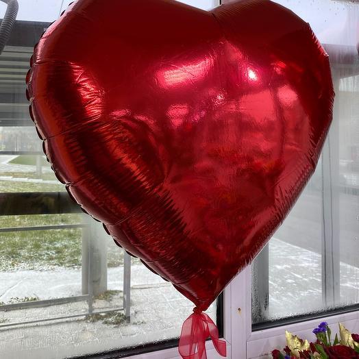 Шар Фольгированный Сердце 92см