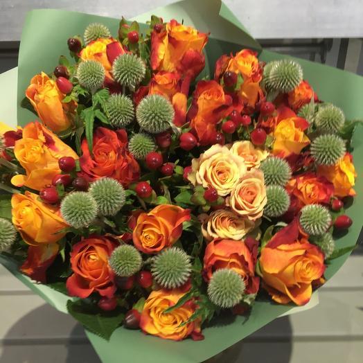 Букет «Осення  Роза»