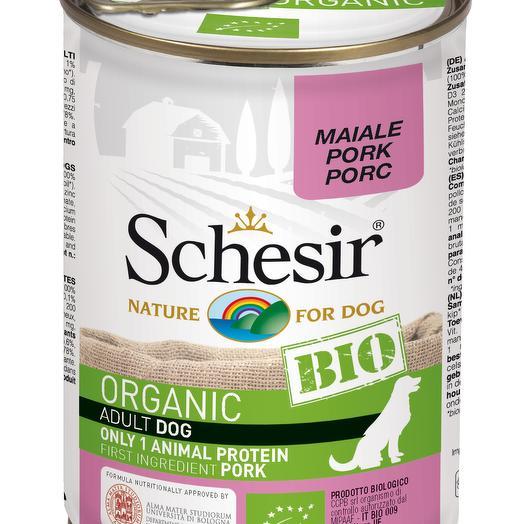 Schesir Bio консервы для собак с свининой 400 г