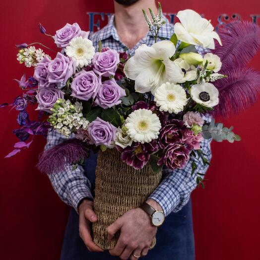 Корзина с цветами 4