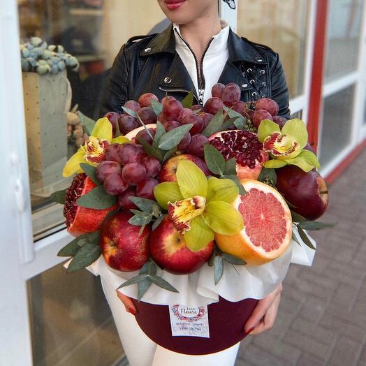 Коробка Шляпная фруктовая