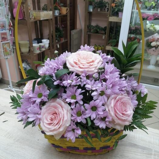 Корзина с цветами Прованс