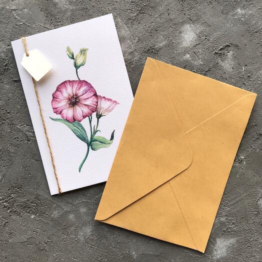 """Author's postcard """"Eustoma"""""""
