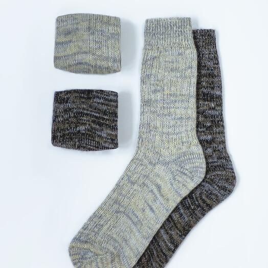 Набор из двух пар шерстяных носков «Пастель»