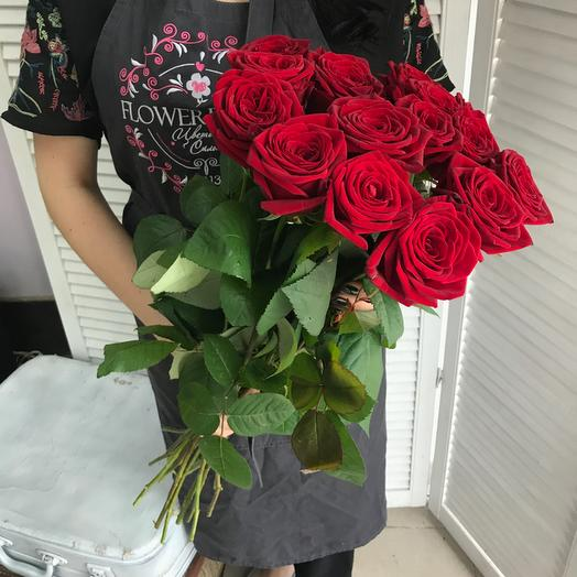 Букет из 15 красных роз 60 см: букеты цветов на заказ Flowwow
