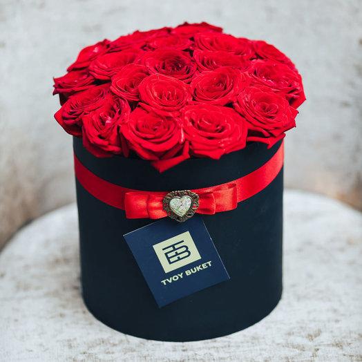 25 роз в коробке: букеты цветов на заказ Flowwow