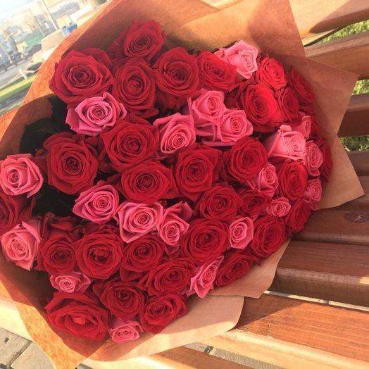 51 роза Нежность: букеты цветов на заказ Flowwow