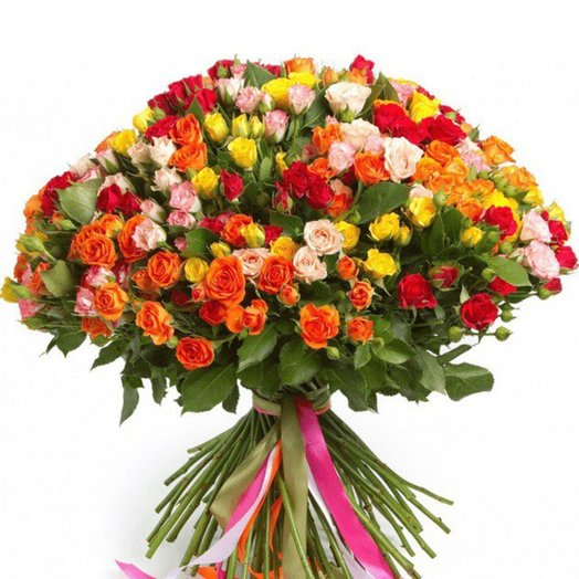 Супермикс из кустовых роз: букеты цветов на заказ Flowwow