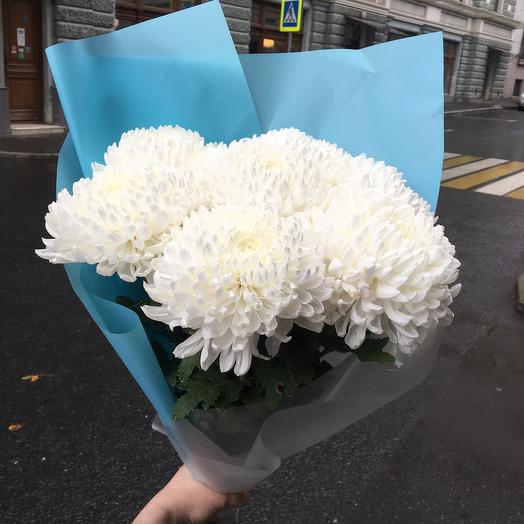 Огромные шары хризантем: букеты цветов на заказ Flowwow