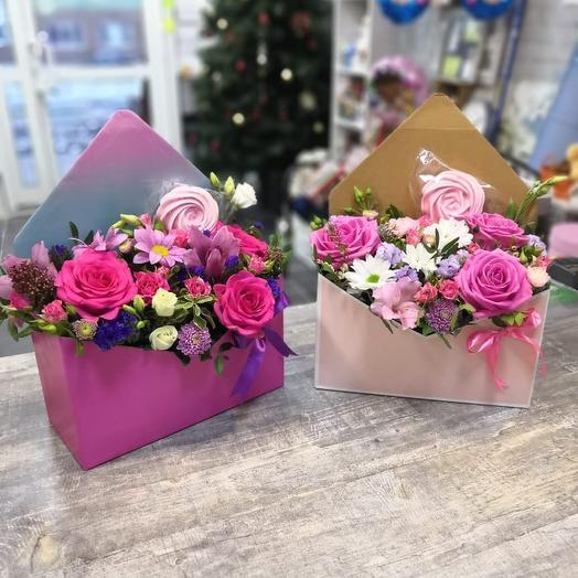 Письмо счастья с цветами: букеты цветов на заказ Flowwow