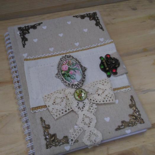Блокнот ручной работы Вдохновение: букеты цветов на заказ Flowwow