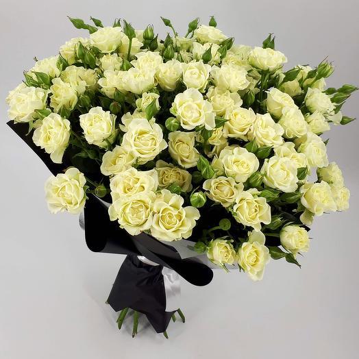 ✅ Черно-белое кино: 15 кустовых роз