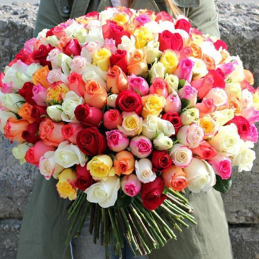 101 роза микс: букеты цветов на заказ Flowwow