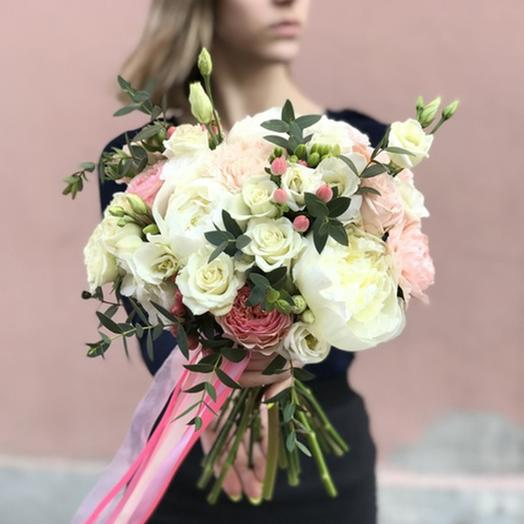 """Свадебный букет """"Калейдоскоп"""": букеты цветов на заказ Flowwow"""