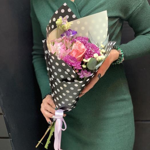 Кулёчек хорошего настроения: букеты цветов на заказ Flowwow