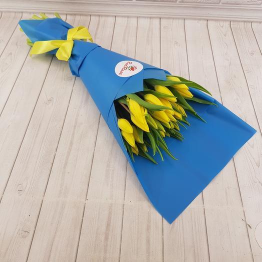 Тюльпан желтый премиум: букеты цветов на заказ Flowwow