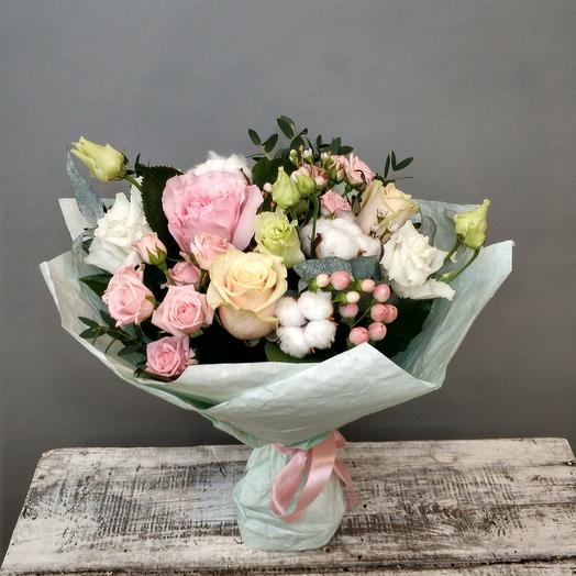 Клубничный зефир: букеты цветов на заказ Flowwow