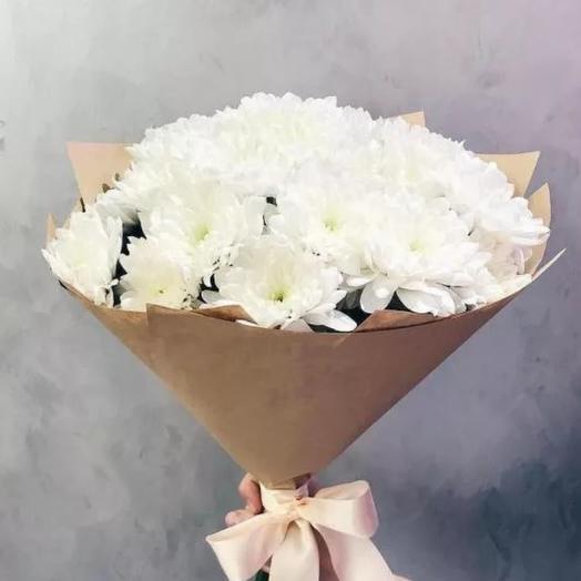 """Хризонтема """"Белоснежка"""": букеты цветов на заказ Flowwow"""