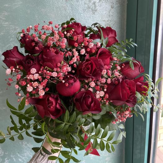 Красные розы для любимой 🌹: букеты цветов на заказ Flowwow