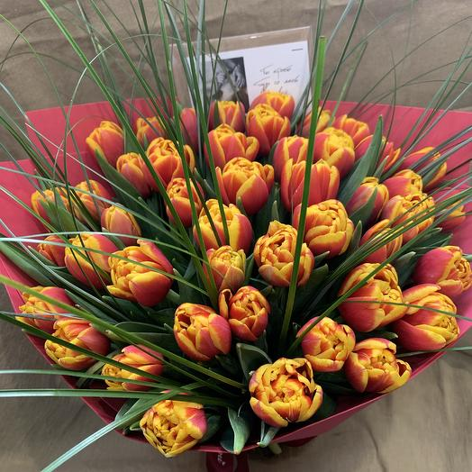 Букет, тюльпаны: букеты цветов на заказ Flowwow
