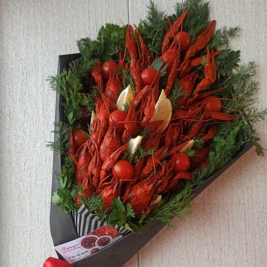 A bouquet of crayfish