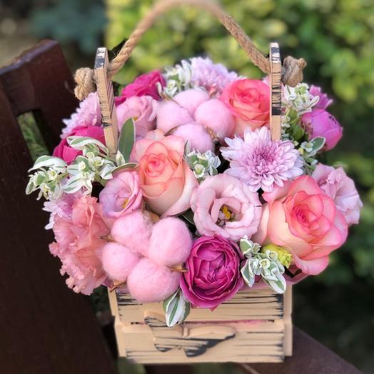 Ящик с цветами «Розовое чудо»